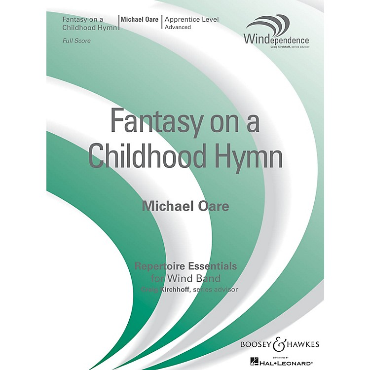 Boosey and Hawkes Fantasy on a Childhood Hymn (Score Only) Concert Band Level 3 Composed by Michael Oare