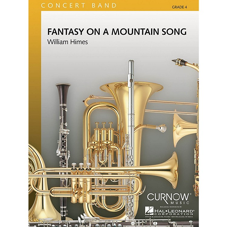 Curnow MusicFantasy on a Mountain Song (Grade 4 - Score Only) Concert Band Level 4 Composed by William Himes