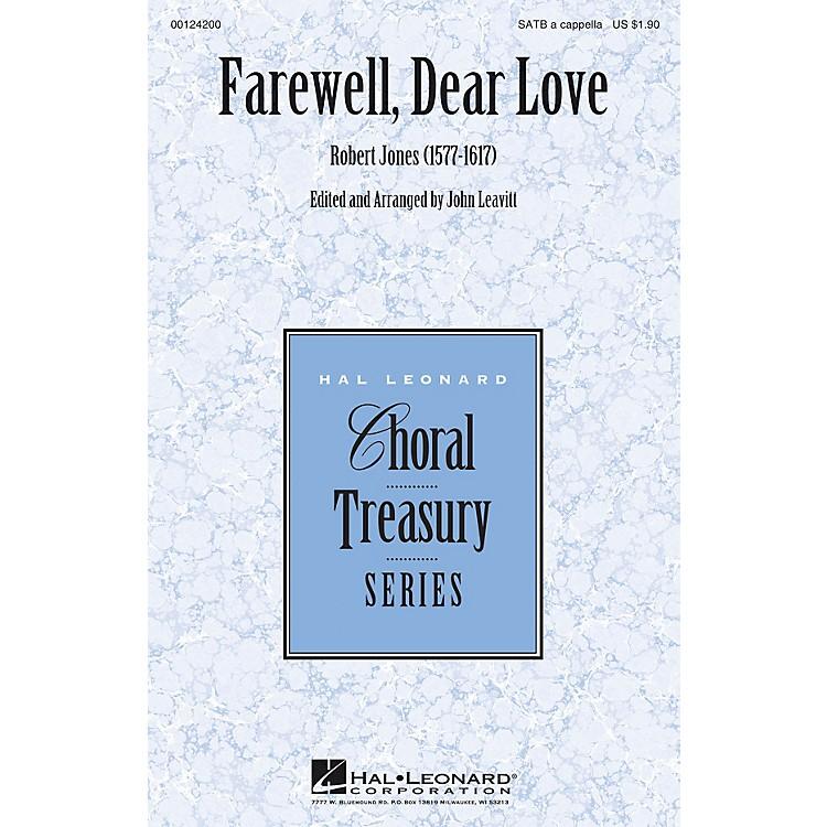 Hal LeonardFarewell, Dear Love SATB a cappella arranged by John Leavitt