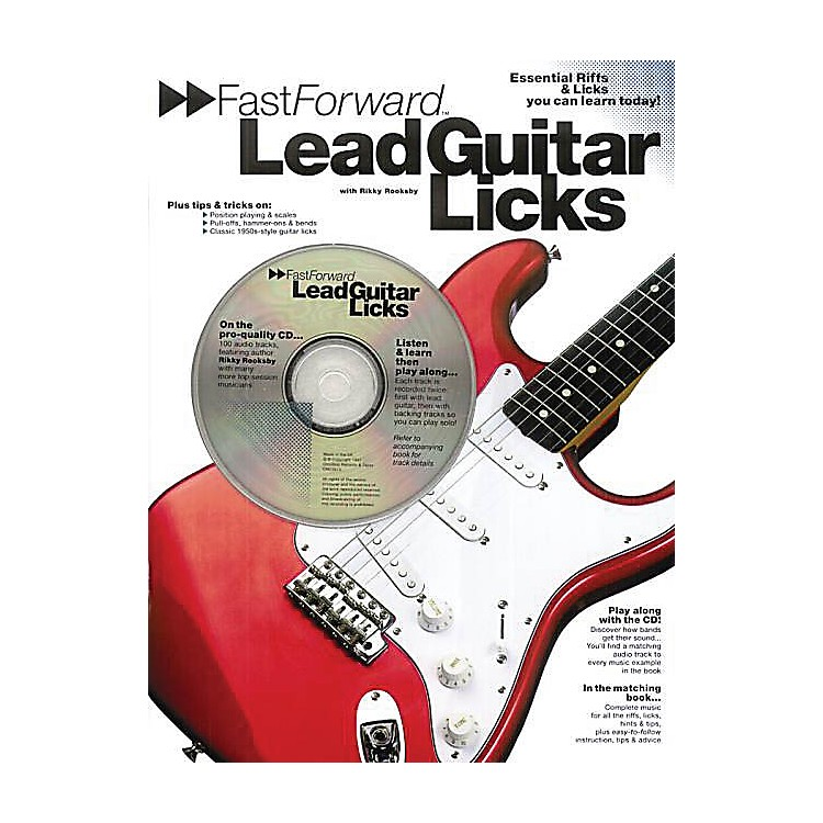 Music Sales Fast Forward - Lead Guitar Licks Music Sales America Series Softcover with CD Written by Rikky Rooksby