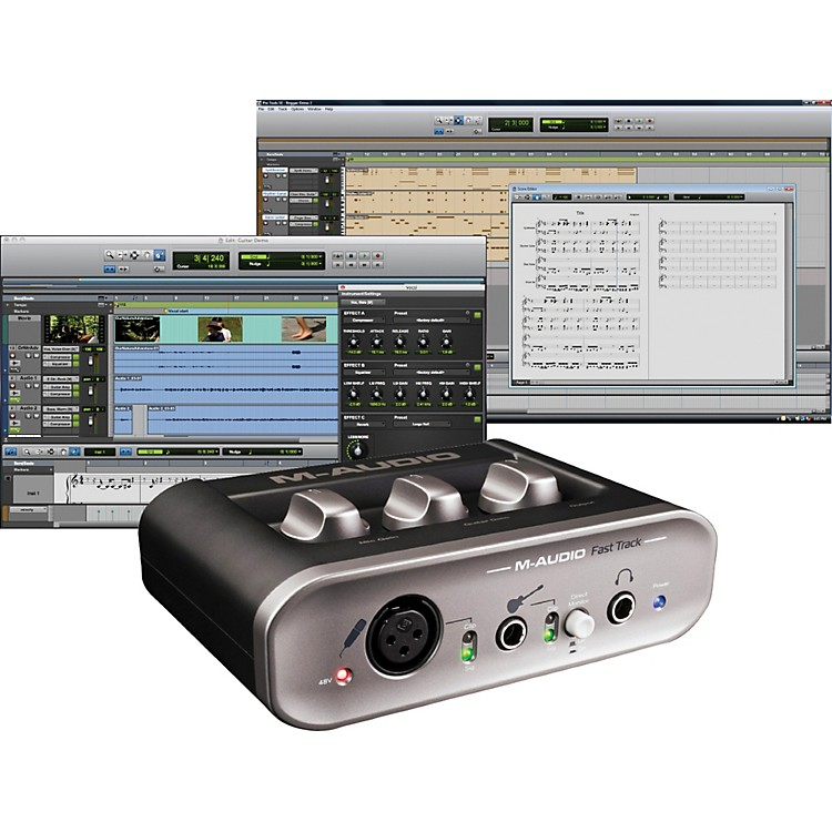 M-Audio Fast Track MKII USB Audio Interface with Pro Tools SE
