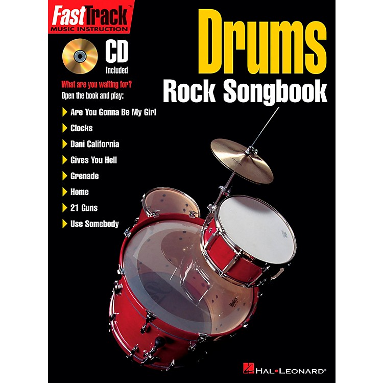 Hal Leonard FastTrack Drums Rock Songbook Book/CD