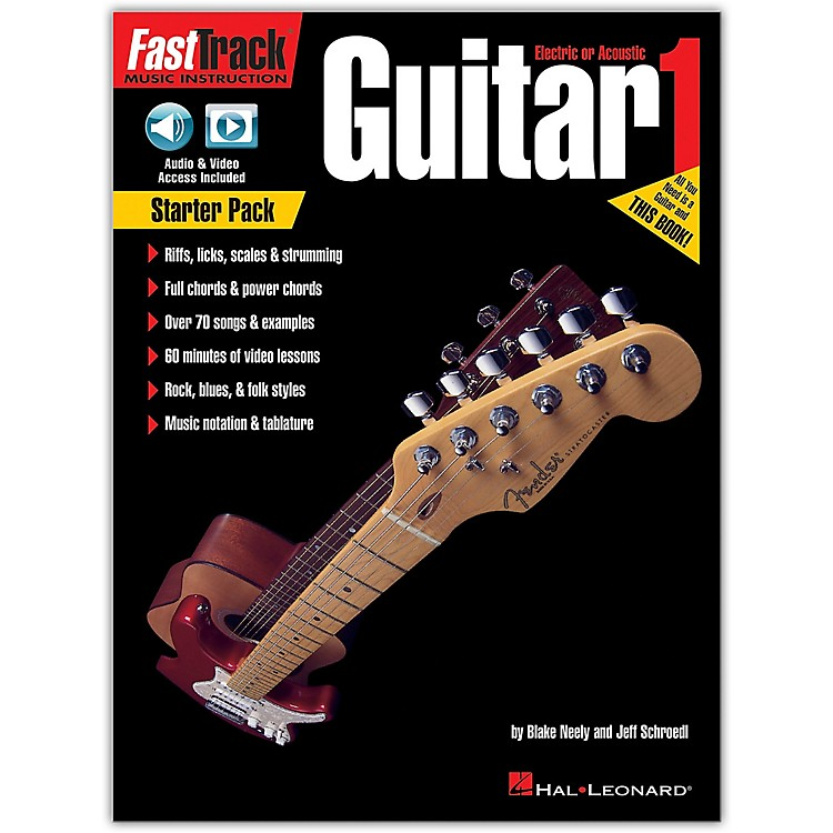 Hal Leonard FastTrack Guitar Method - Starter Pack Book/Online Audio and Video