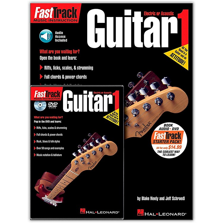 Hal LeonardFastTrack Guitar Method Starter Pack - Includes Book/CD/DVD