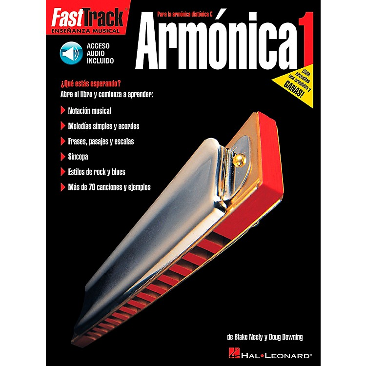 Hal LeonardFastTrack Harmonica Method Book 1 Book/CD - Spanish Edition