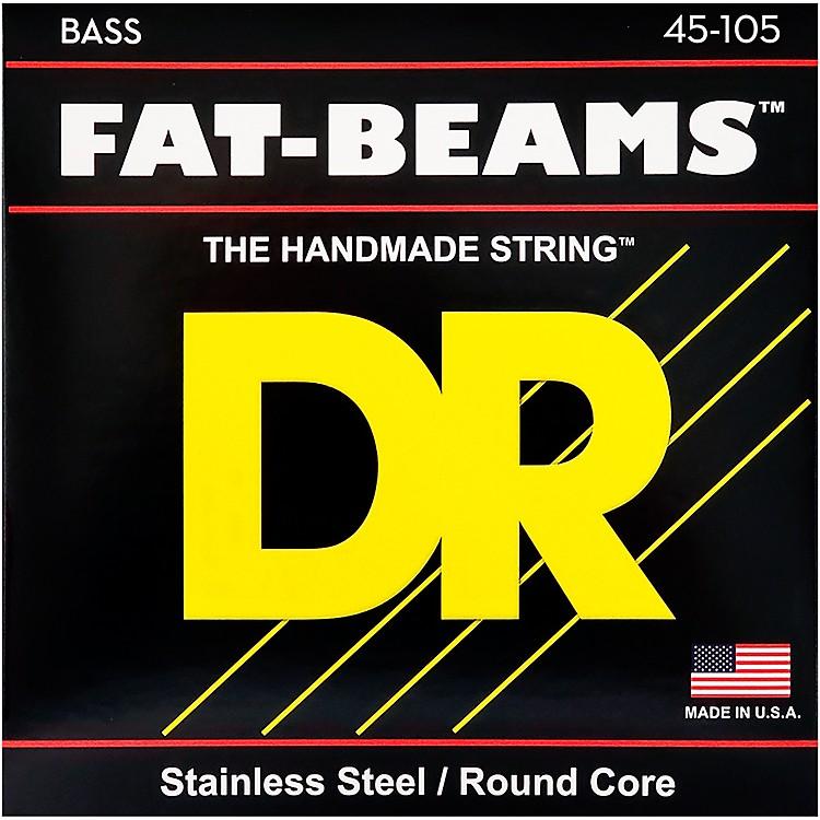 DR StringsFat-Beams Stainless Steel Medium 4-String Bass Strings (45-105)