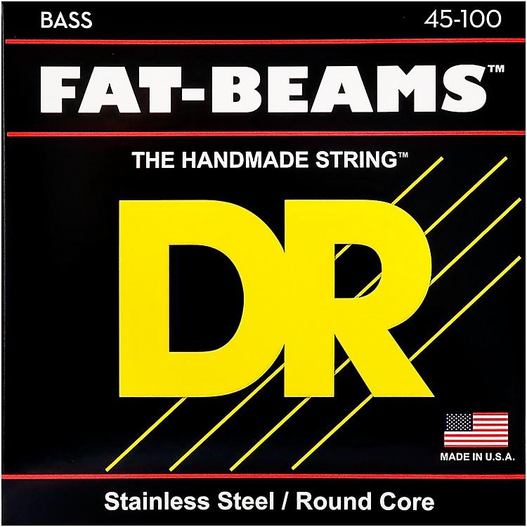 DR StringsFat-Beams Stainless Steel Medium-Lite 4-String Bass Strings (45-100)