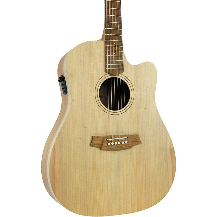 Cole Clark Fat Lady 1 CCFL1EC-BM Dreadnought Acoustic-Electric Guitar Natural
