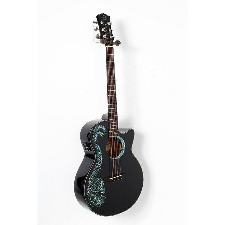 Luna Guitars Fauna Dragon Folk Acoustic-Electric Guitar  888365905778
