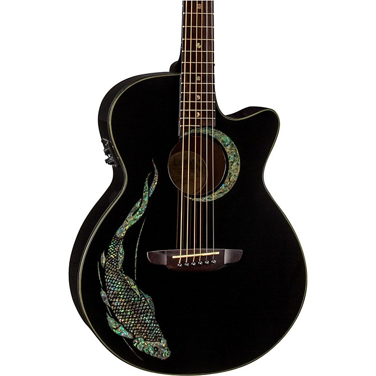 Luna Guitars Fauna Koi Acoustic-Electric Guitar Classic Black