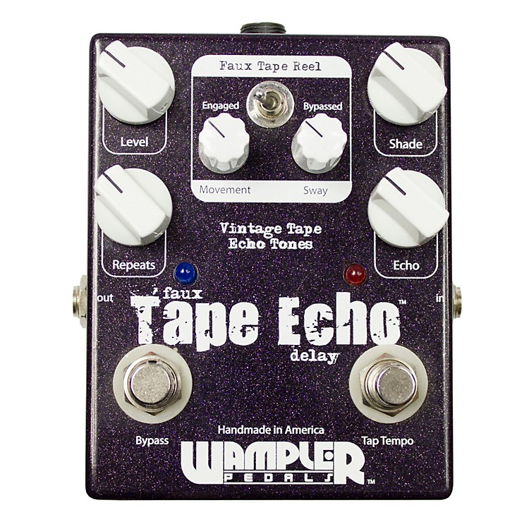 wampler faux tape echo delay with tap tempo guitar effects pedal music123. Black Bedroom Furniture Sets. Home Design Ideas