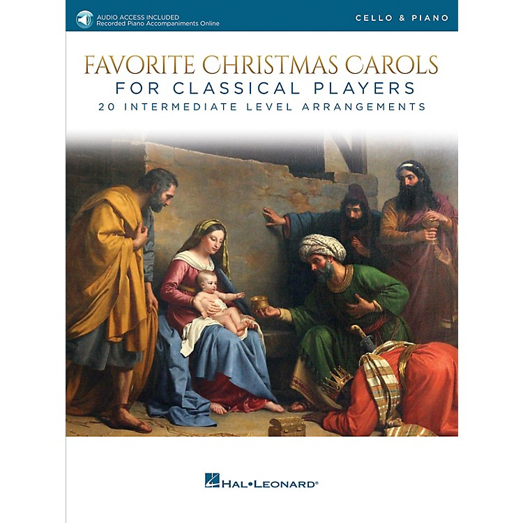 Hal LeonardFavorite Christmas Carols for Classical Players - Cello and Piano Book/Audio Online