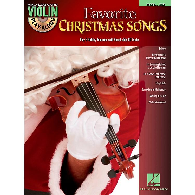 Hal LeonardFavorite Christmas Songs - Violin Play-Along Volume 32 Book/CD