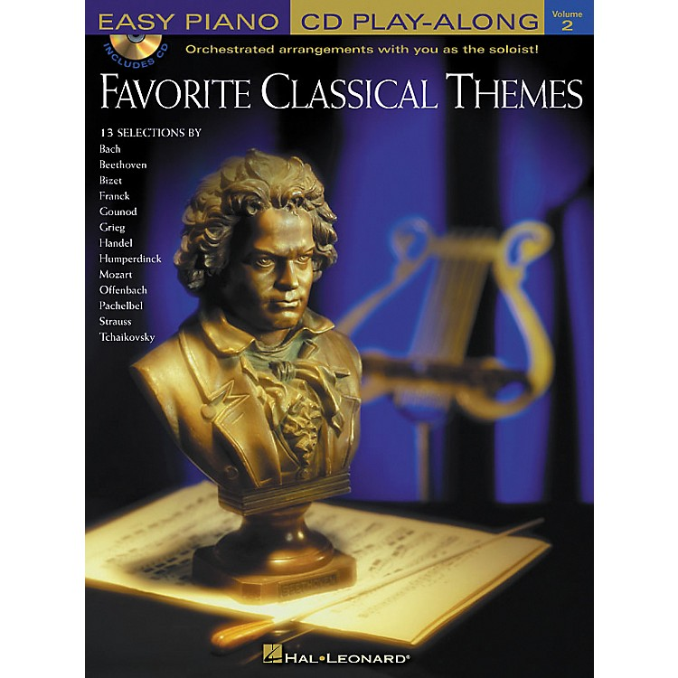 Hal Leonard Favorite Classical Themes Easy Piano CD Play-Along Volume 2 Book/CD