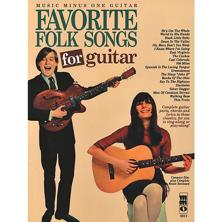 Music Minus OneFavorite Folks Songs for Guitar Music Minus One Series Softcover with CD