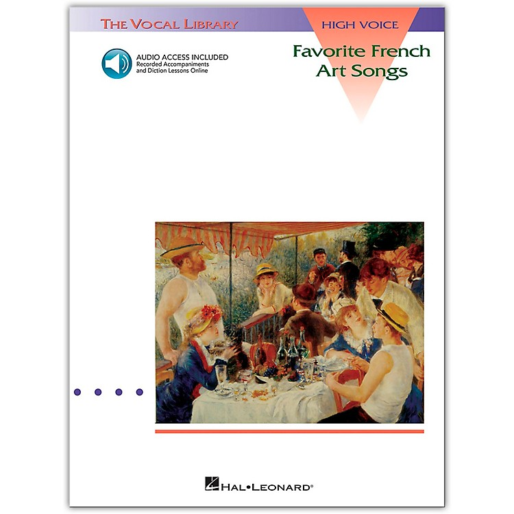 Hal Leonard Favorite French Art Songs for High Voice Book/CD