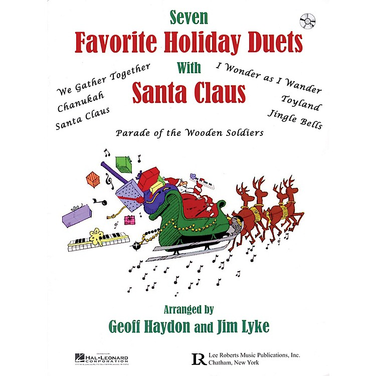 Lee RobertsFavorite Holiday Duets with Santa Claus Pace Piano Education Series Softcover with CD by Geoff Haydon