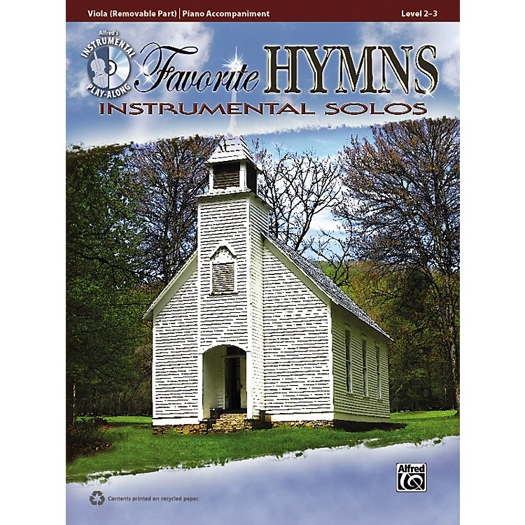 Alfred Favorite Hymns Instrumental Solos Viola Book & CD