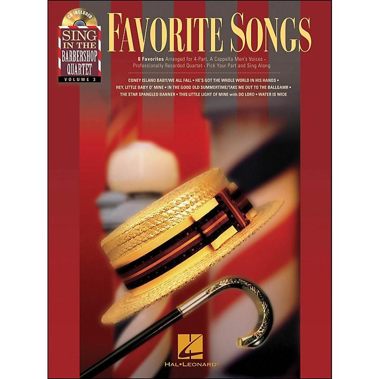 Hal LeonardFavorite Songs - Sing In The Barbershop Quartet Series Vol. 3 Book/CD