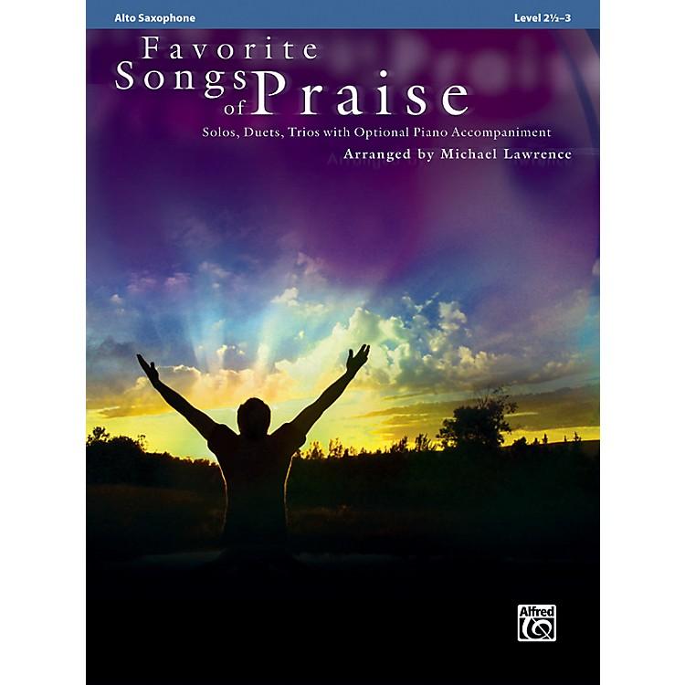 AlfredFavorite Songs of Praise (Alto Sax Version)
