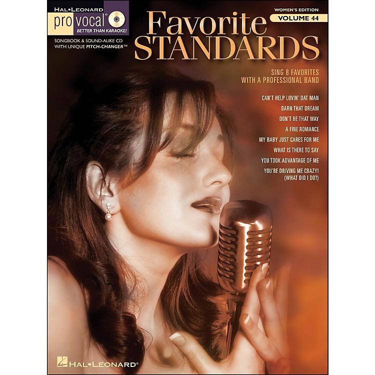 Hal LeonardFavorite Standards - Pro Vocal Songbook & CD for Female Singers Volume 44