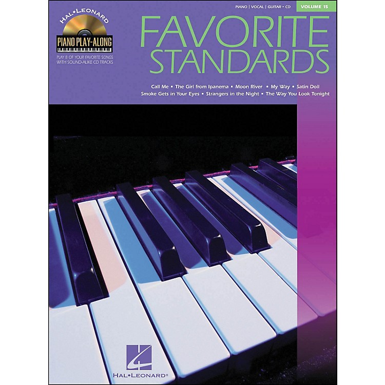 Hal Leonard Favorite Standards Volume 15 Book/CD Piano Play-Along arranged for piano, vocal, and guitar (P/V/G)