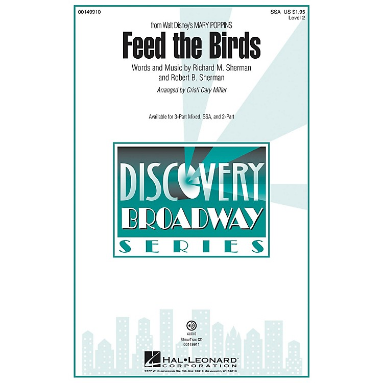 Hal LeonardFeed the Birds (Discovery Level 2) SSA arranged by Cristi Cary Miller