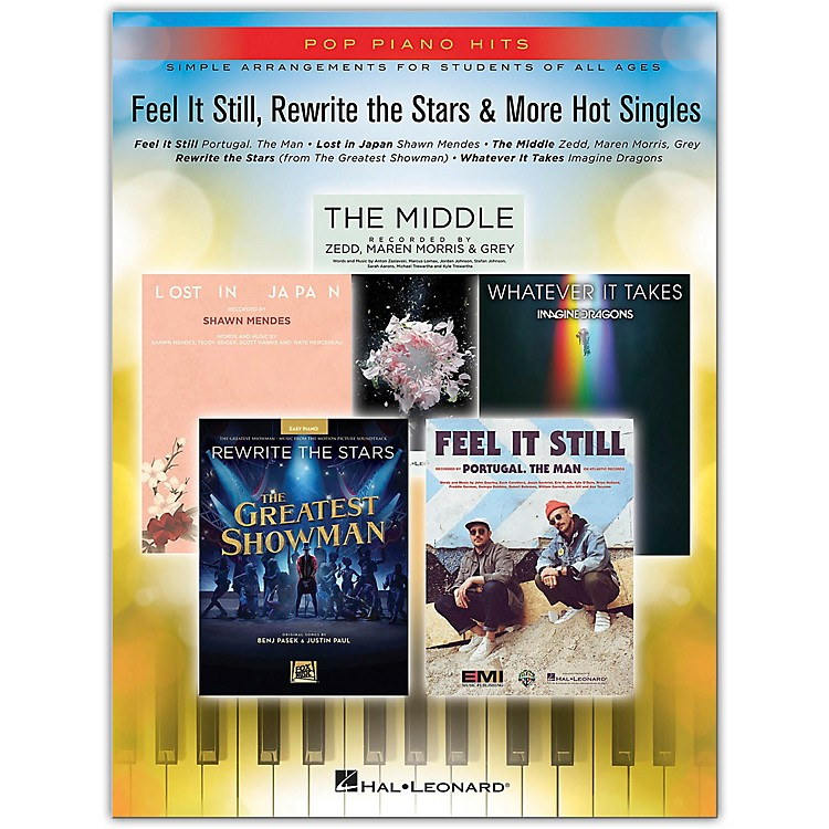 Hal Leonard Feel It Still, Rewrite the Stars & More Hot Singles - Pop Piano Hits Series for Easy Piano