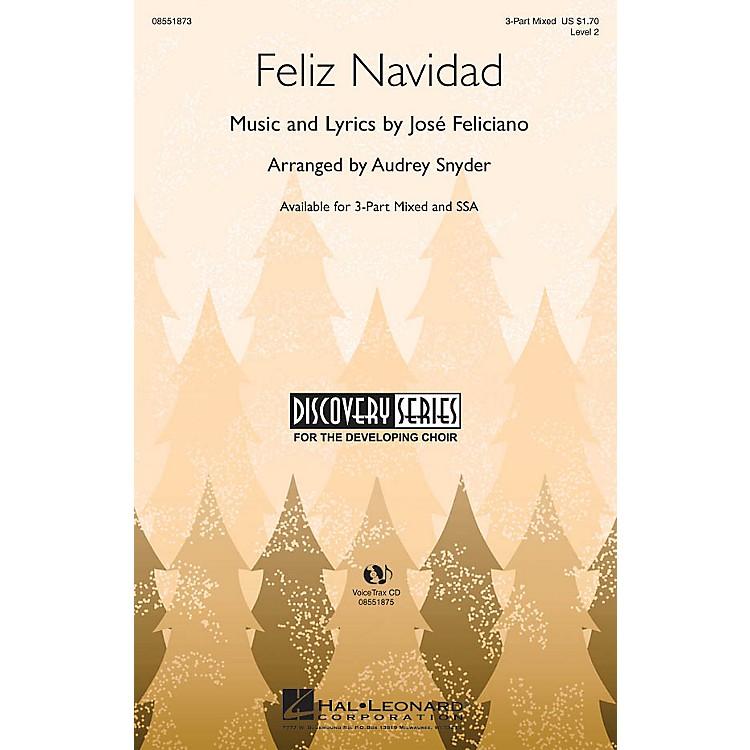 Hal LeonardFeliz Navidad SSA Arranged by Audrey Snyder