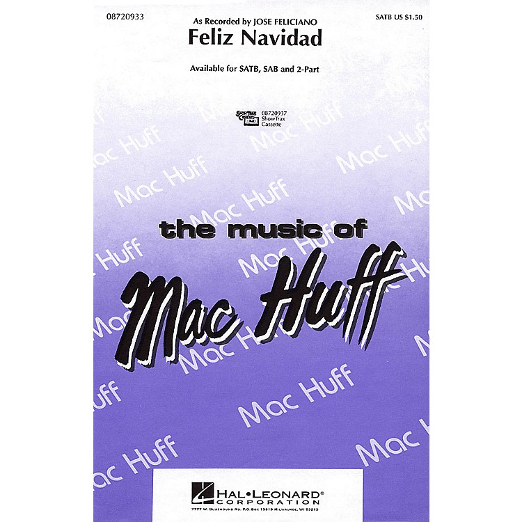 Hal LeonardFeliz Navidad ShowTrax CD by Jose Feliciano Arranged by Mac Huff