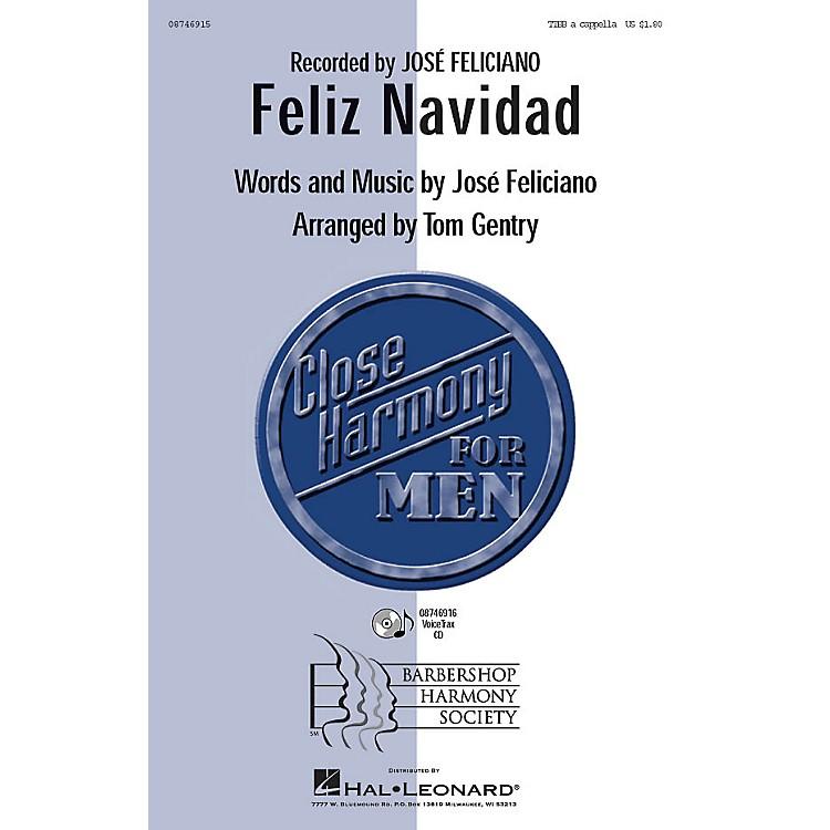 Barbershop Harmony SocietyFeliz Navidad TTBB A Cappella by Jose Feliciano arranged by Tom Gentry