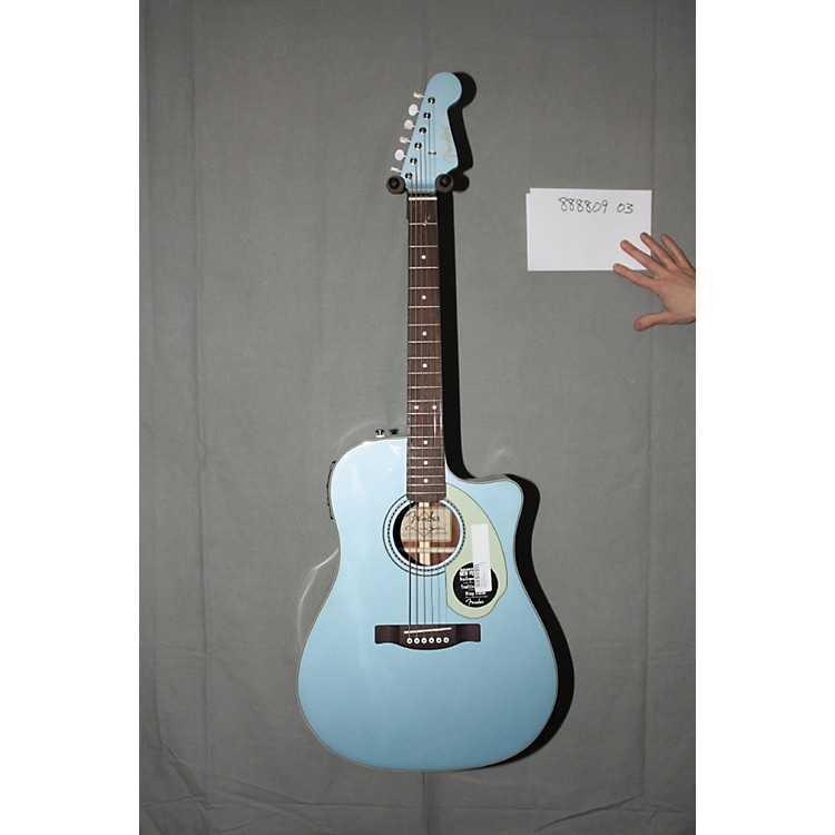 Used Fender California Series Sonoran SCE Custom Dreadnought Acoustic Electric Guitar Lake Placid Blue