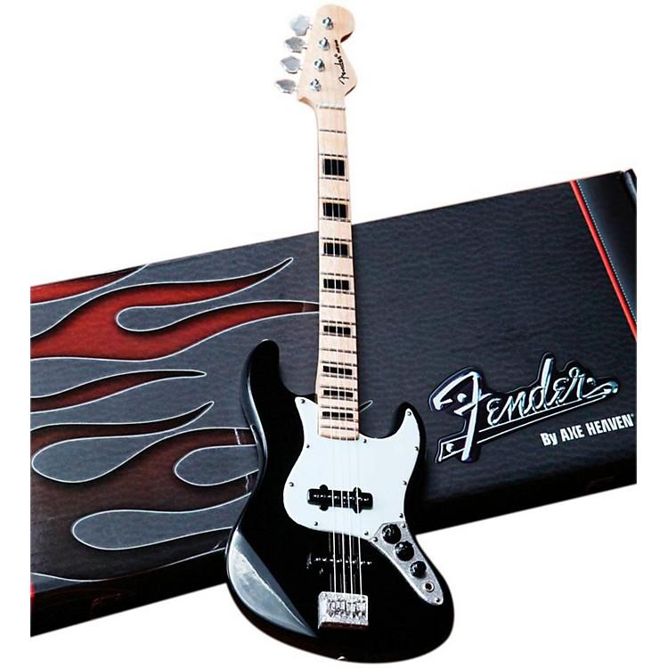 Axe HeavenFender Jazz Bass Black Miniature Guitar Replica Collectible
