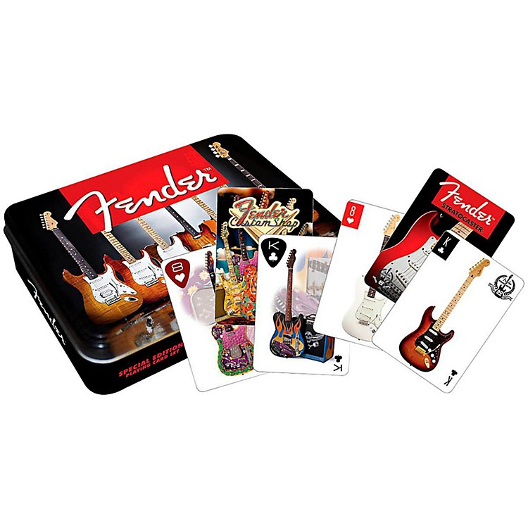 Hal Leonard Fender Playing Cards 2 DECK SET GIFT TIN