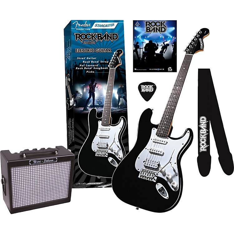 fender fender starcaster strat rock band electric guitar and mini deluxe amp value pack music123. Black Bedroom Furniture Sets. Home Design Ideas