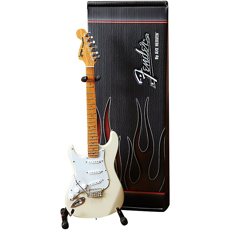 Axe HeavenFender Stratocaster White with Reverse Headstock for Leftys Officially Licensed Mini Guitar Replica