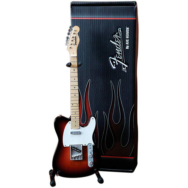 Axe HeavenFender Telecaster Classic Sunburst Miniature Guitar Replica Collectible