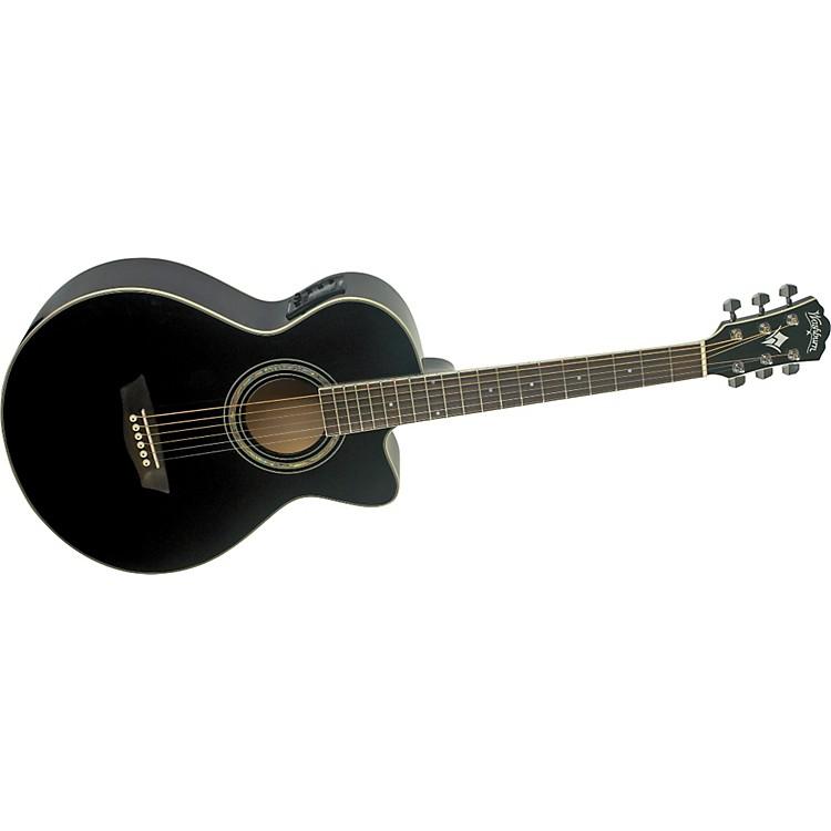 WashburnFestival EA10 Acoustic Cutaway Electric Petite Jumbo Guitar With 4-Band EQBlack