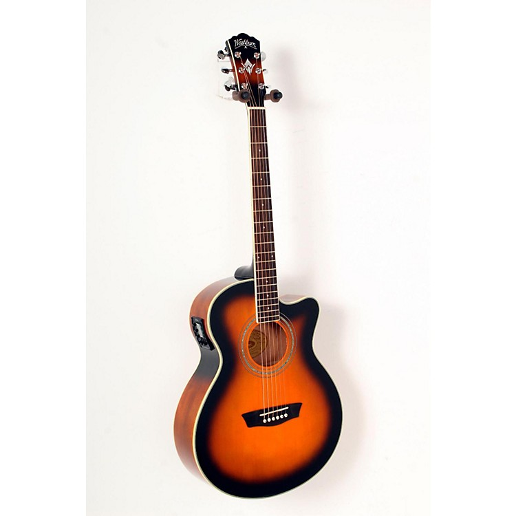 WashburnFestival EA14A Spruce Top Acoustic Cutaway Electric Guitar with 4-Band EQTobacco Sunburst888365794365
