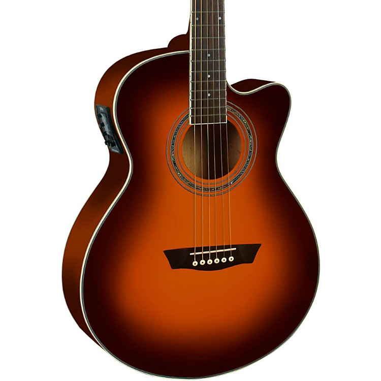 WashburnFestival EA14A Spruce Top Acoustic Cutaway Electric Guitar with 4-Band EQ