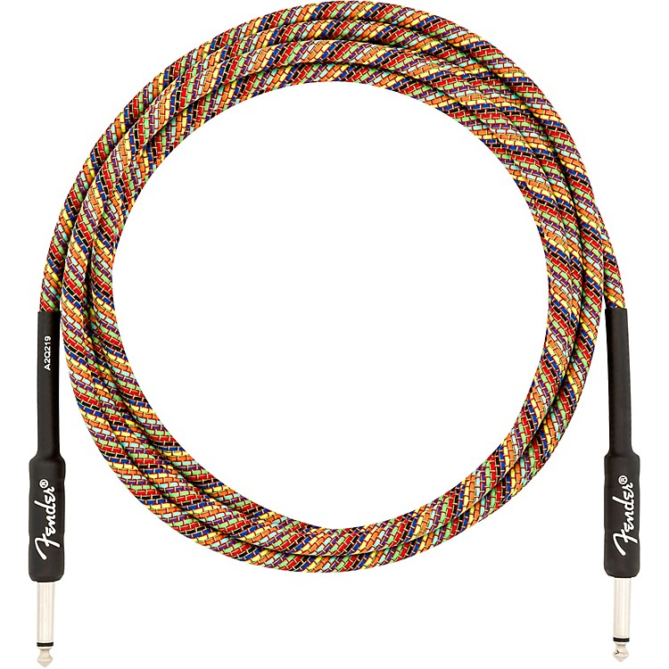 FenderFestival Straight to Straight Instrument Cable10 ft.Rainbow