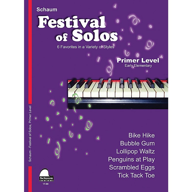 SCHAUMFestival of Solos Educational Piano Book by John W. Schaum (Level Early Elem)