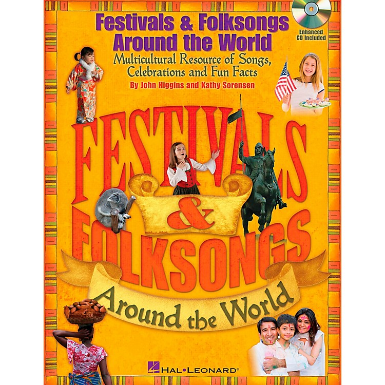 Hal LeonardFestivals & Folksongs Around The World - Multicultural Resource Book/CD