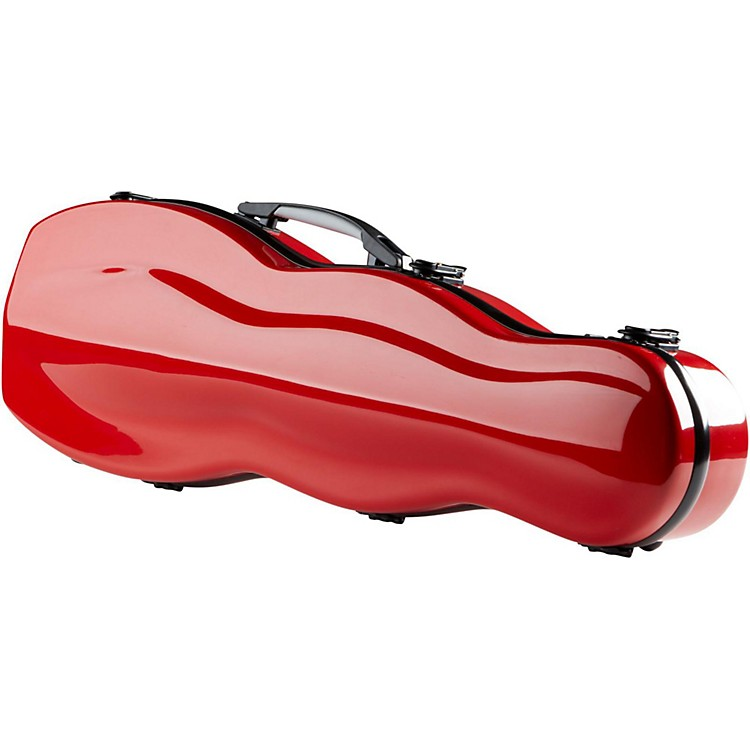 The String Centre Fiberglass Gourd Shaped Violin Case 4/4 Red