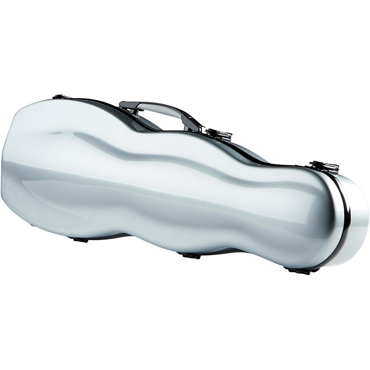 The String Centre Fiberglass Gourd Shaped Violin Case 4/4 Silver