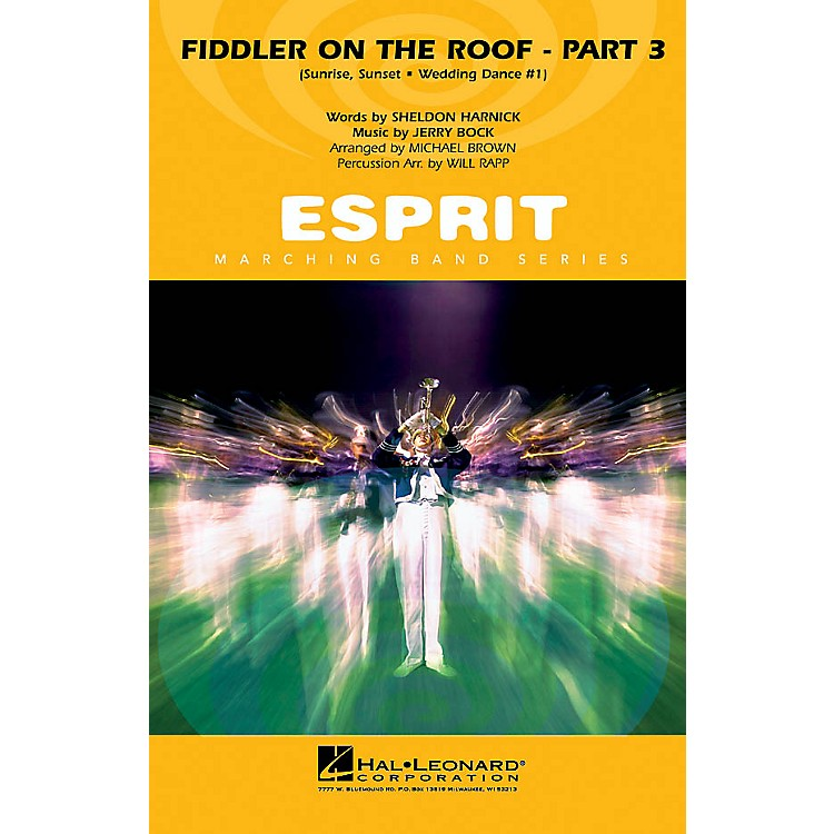 Hal Leonard Fiddler on the Roof - Part 3 Marching Band Level 3 Arranged by Michael Brown/Will Rapp