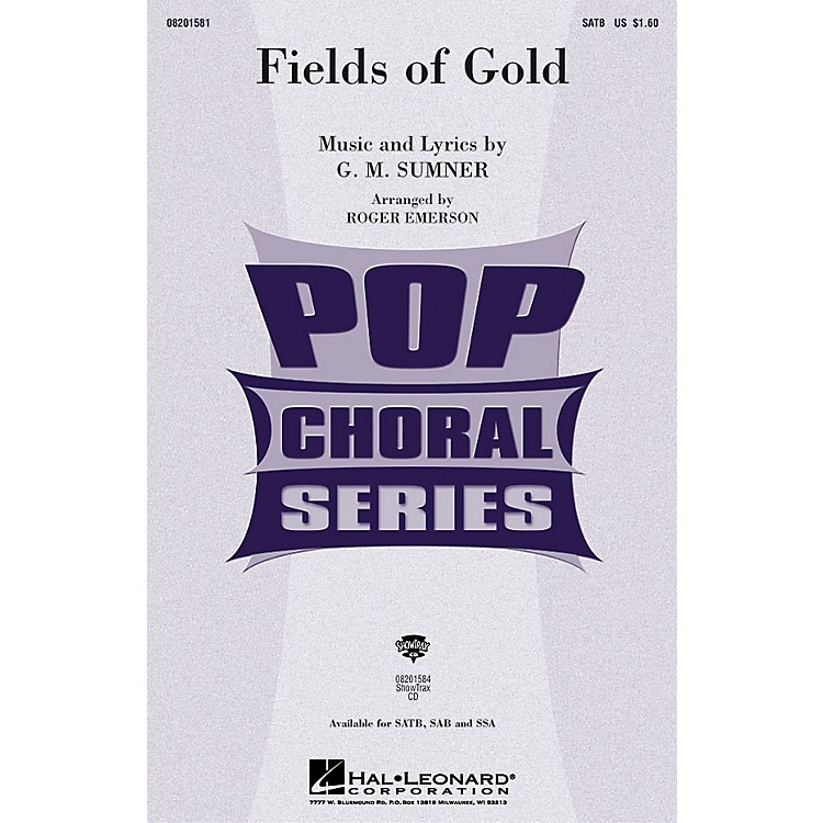 Hal LeonardFields of Gold SAB by Eva Cassidy Arranged by Roger Emerson