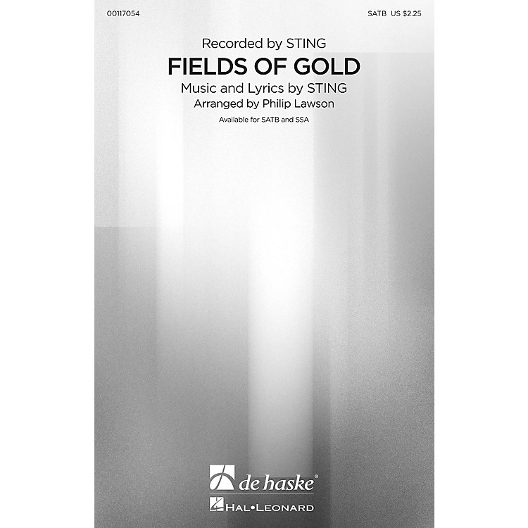De Haske MusicFields of Gold (SATB) SATB by Sting arranged by Philip Lawson