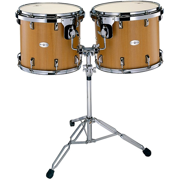 Black Swamp Percussion Figured Anigre Concert Tom Set with Stand 15 and 16 in. Figured Anigre