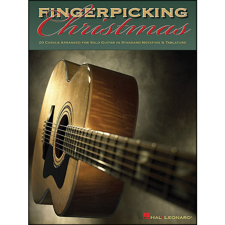 Hal LeonardFingerpicking Christmas 20 Carols Arranged for Solo Guitar in Notes & Tablature